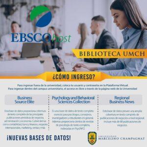 Nuevas Bases de Datos en EBSCOhost